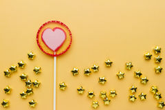 Lollipop on paper Royalty Free Stock Photos