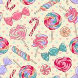 Lollipop pattern, yellow Royalty Free Stock Photo