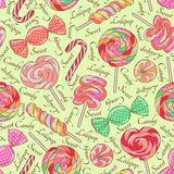 Lollipop pattern, yellow Stock Photos