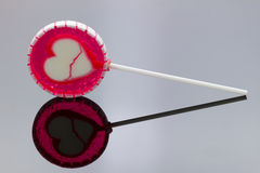 Lollipop with reflection Royalty Free Stock Photo