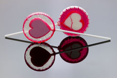 Lollipop with reflection Stock Photography