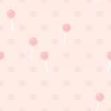 Lollipop retro seamless pattern Stock Images