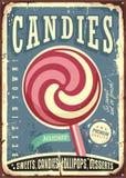 Lollipop retro vector sign design Stock Photography