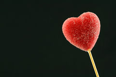 Lollipop rosso del cuore Immagine Stock Libera da Diritti