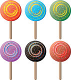 Lollipop round Stock Image