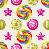 Lollipop seamless pattern Stock Image