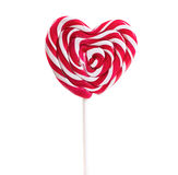 Lollipop in the shape of a heart Stock Image