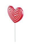 Lollipop in shape of heart. 3d illustration on white background Stock Image