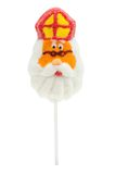 Lollipop in the shape of Sinterklaas. Isolated on a white background stock photography