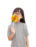 Lollipop smile royalty free stock photography