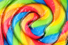 Lollipop Spiral Swirl. Centre of brightly colored round spiral lollipop stock photos