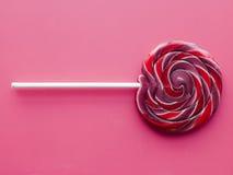 Lollipop a spirale della frutta immagine stock libera da diritti