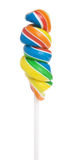 Lollipop on a stick. Rainbow swet Lollipop isolated on white background Royalty Free Stock Photography