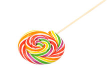 Lollipop. Sweet Vibrant Lollipop. Isolated on white background Royalty Free Stock Photo