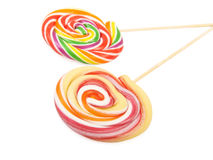 Lollipop. Sweet Vibrant Lollipop. Isolated on white background Royalty Free Stock Images