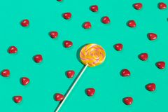 Lollipop and sweets for children. treats for sweet tooth stock illustration