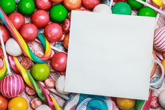 Lollipop and sweets Stock Photos