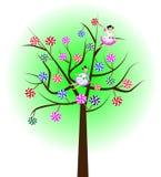 Lollipop tree. Lollipops (candies) on white background vector illustration