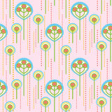 Lollipop_trees_pattern Royalty Free Stock Photography
