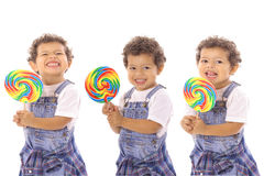 Lollipop triplets Royalty Free Stock Images