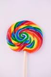 Lollipop turbinato variopinto fotografia stock