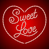 Lollipop Valentine's day card Royalty Free Stock Images