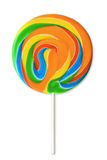 Lollipop variopinto su bianco Immagini Stock