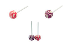 Lollipop. Very closeup shot of lollipop with clipping path Stock Image
