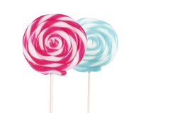 Lollipop on White background Royalty Free Stock Images