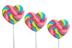 Lollipop on White Background Stock Image
