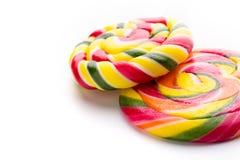 Lollipop on white Stock Photos