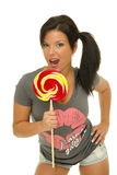 Lollipop woman Royalty Free Stock Photo