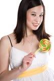 Lollipop woman Royalty Free Stock Photography
