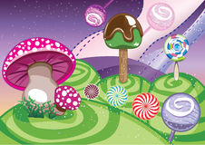 Lollipop world Stock Image