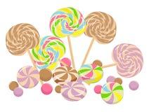 lollipops γλυκό Στοκ Εικόνες