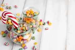 Lollipops και μίγμα καραμελών Στοκ εικόνα με δικαίωμα ελεύθερης χρήσης
