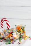 Lollipops και μίγμα καραμελών Στοκ Εικόνα