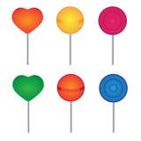 lollipops установили 10 eps иллюстрация вектора