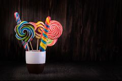 lollipops royalty-vrije stock afbeelding