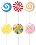 Lollipops. Set of various colorful lollipops Royalty Free Stock Images
