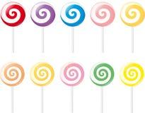 Lollipops. Set of various colorful lollipops Stock Photos