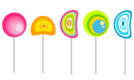 Lollipops. Colorful original lollipops collection illustration Royalty Free Stock Images
