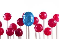 Lollipops azuis e cor-de-rosa Fotografia de Stock