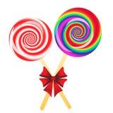 Lollipops background Stock Images