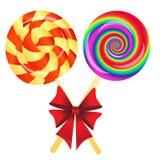 Lollipops background Stock Photo
