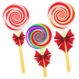 Lollipops background Stock Photos