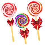 Lollipops background Stock Photos