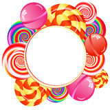 Lollipops background Royalty Free Stock Image