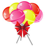 Lollipops background Royalty Free Stock Photo