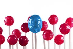 Lollipops blu e dentellare Fotografia Stock